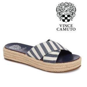 Vince Camuto Blue White Platform Sandal Sz 9.5 NIB